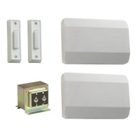 Quorum 102-2-6 Lighting Accessory White Double Entry Chime Doorbell in 2 photo thumbnail