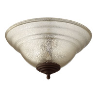 Quorum Quorum 1147-801 Signature 2 Light Satin Nickel and Oiled Bronze with Silver Mercury Fan Light Kit