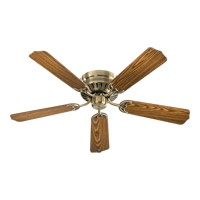 Custom Hugger 52 inch Antique Brass with Dark Oak Blades Ceiling Fan
