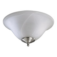 Signature 2 Light CFL Satin Nickel and White Fan Light Kit