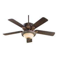 Quorum 1230-888 Madeleine 2 Light CFL Corsican Gold Fan Light Kit