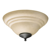 Quorum International Signature 2 Light Fan Light Kit in Toasted Sienna and Old World 1232-801