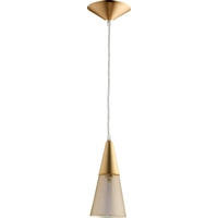 Signature 4 inch Aged Brass Mini Pendant Ceiling Light, Mesh
