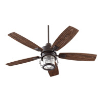 Quorum 13525-44 Galveston 52 inch Toasted Sienna with Walnut Blades Outdoor Ceiling Fan photo thumbnail
