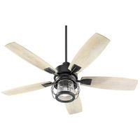 Quorum 13525-69 Galveston 52 inch Noir with Weathered Oak Blades Patio Fan