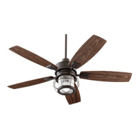 Quorum 13525-86 Galveston 52 inch Oiled Bronze with Walnut Blades Outdoor Ceiling Fan