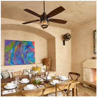 Quorum 13525-86 Galveston 52 inch Oiled Bronze with Walnut Blades Outdoor Ceiling Fan alternative photo thumbnail