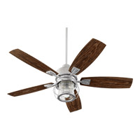 Quorum 13525-9 Galveston 52 inch Galvanized with Walnut Blades Patio Fan