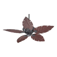 Quorum 135525-44 Monaco 52 inch Toasted Sienna with Rosewood Blades Outdoor Ceiling Fan