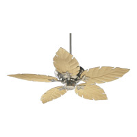 Monaco 52 inch Satin Nickel with Maple Blades Outdoor Ceiling Fan