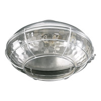Quorum 1374-809 Hudson 1 Light CFL Galvanized Fan Light Kit