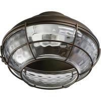 Quorum 1374-886 Hudson 1 Light CFL Oiled Bronze Fan Light Kit