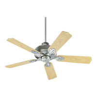 Quorum 137525-9 Hudson 52 inch Galvanized with Medium Oak Blades Outdoor Ceiling Fan photo thumbnail
