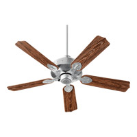 Quorum 137525-924 Hudson 52 inch Galvanized with Walnut Blades Patio Fan