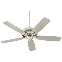 Quorum 140625-65 Alto 62 inch Satin Nickel with Silver Blades Patio Fan