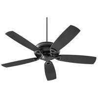 Quorum 140625-69 Alto 62 inch Noir with Matte Black Blades Patio Fan