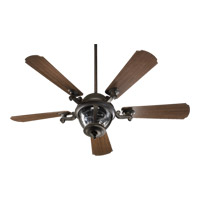 Quorum 142525-945 Westbrook 52 inch Baltic Granite with Walnut Blades Outdoor Ceiling Fan