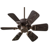 Quorum 143306-86 Estate Patio 30 inch Oiled Bronze Outdoor Ceiling Fan