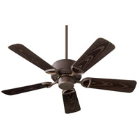 Quorum 143425-86 Estate Patio 42 inch Oiled Bronze Outdoor Ceiling Fan
