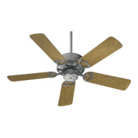 Quorum 143425-9 Estate Patio 42 inch Galvanized with Medium Oak Blades Outdoor Ceiling Fan