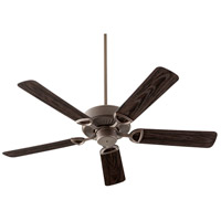 Quorum 143525-86 Estate Patio 52 inch Oiled Bronze with Walnut Blades Outdoor Ceiling Fan in Light Kit Not Included