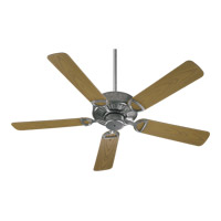 Quorum 143525-9 Estate Patio 52 inch Galvanized with Medium Oak Blades Outdoor Ceiling Fan in Light Kit Not Included photo thumbnail