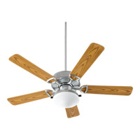 Quorum 143525-909 Estate Patio 52 inch Galvanized with Medium Oak Blades Outdoor Ceiling Fan in Satin Opal