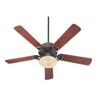 Quorum International Estate Patio 2 Light Outdoor Ceiling Fan in Toasted Sienna 143525-944