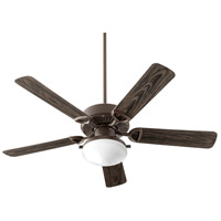 Quorum 143525-986 Estate Patio 52 inch Oiled Bronze with Walnut Blades Outdoor Ceiling Fan in Amber Scavo