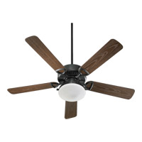 Quorum 143525-995 Estate Patio 52 inch Old World with Walnut Blades Outdoor Ceiling Fan in Satin Opal