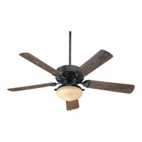 Quorum 1435259395 Estate Patio 52 inch Old World with Walnut Blades Outdoor Ceiling Fan