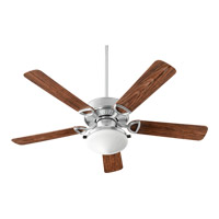 Quorum 1435259924 Estate Patio 52 inch Galvanized with Walnut Blades Patio Fan