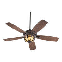 Quorum International Belvedere Patio 3 Light Outdoor Ceiling Fan in Toasted Sienna 14525-944