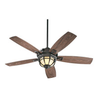 Quorum International Belvedere Patio 3 Light Outdoor Ceiling Fan in Oiled Bronze 14525-986