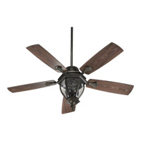 Quorum International Baltic Patio 3 Light Outdoor Ceiling Fan in Oiled Bronze 145525-86