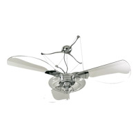 Jellyfish 58 inch Chrome with Clear Blades Ceiling Fan