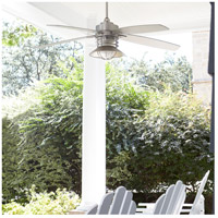 Quorum 14605-65 Portico 60 inch Satin Nickel with Silver Blades Outdoor Ceiling Fan alternative photo thumbnail