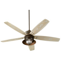 Quorum 14605-86 Portico 60 inch Oiled Bronze with Weathered Oak Blades Outdoor Ceiling Fan