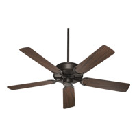 Quorum 146525-86 All-Weather Allure 52 inch Oiled Bronze with Walnut Blades Outdoor Ceiling Fan