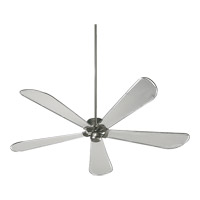 Quorum International Dragonfly Patio Outdoor Ceiling Fan in Satin Nickel 159725-65