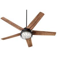Quorum 16605-69 Westland 60 inch Noir with Walnut Blades Patio Fan