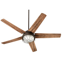Quorum 16605-86 Westland 60 inch Oiled Bronze with Walnut Blades Patio Fan