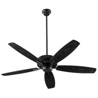 Quorum 17052-69 Breeze Patio 52 inch Noir with Weathered Oak Blades Patio Fan Quorum Home