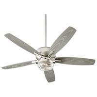 Quorum 170525-65 Breeze Patio 52 inch Satin Nickel with Silver Blades Patio Fan Quorum Home