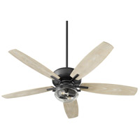 Quorum 170525-69 Breeze Patio 52 inch Noir Noir with Weathered Oak Blades Patio Fan Quorum Home