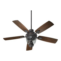 Quorum International Georgia 3 Light Outdoor Ceiling Fan in Toasted Sienna 174525-944