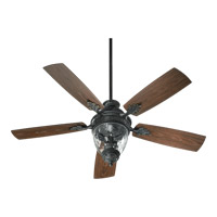 Quorum International Georgia 3 Light Outdoor Ceiling Fan in Old World 174525-995
