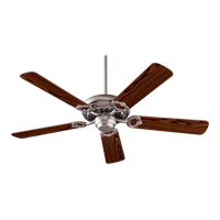 Quorum 17525-6522 Monticello 52 inch Satin Nickel with Reversible Dark Oak and Rosewood Blades Ceiling Fan
