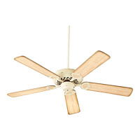Quorum 17525-70 Monticello 52 inch Persian White with Distressed Weathered Pine Blades Ceiling Fan