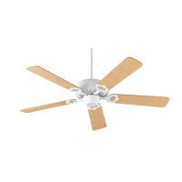 Quorum 17525-8 Monticello 52 inch Studio White with Maple Blades Ceiling Fan